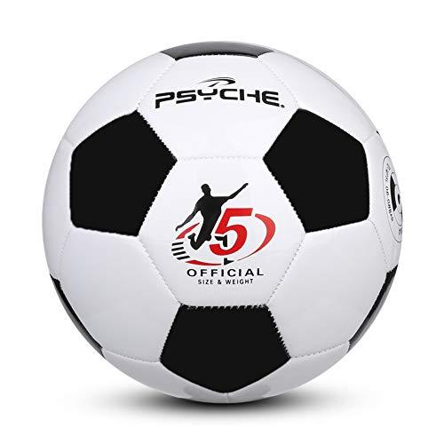 Balón de fútbol para entrenamiento de práctica interior/exterior para niños y adultos, talla 3, color negro y blanco