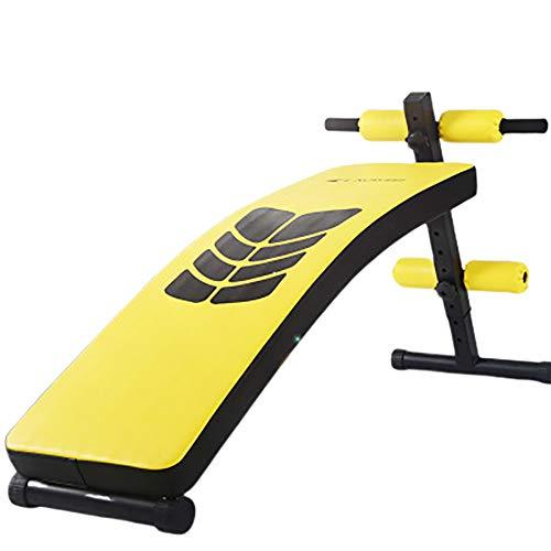XRZY YXZQ Bauchmuskeltrainingsbank, Sit-up-Fitnessgeräte, multifunktionale, einstellbare Verlängerung, Erweiterung, Verdickung, Rückenplatte, hochwertiges Heim-Fitnessstudio