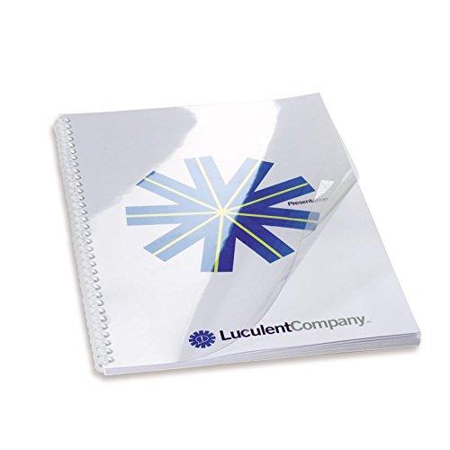 GBC CE012480 - Portada de encuadernación PVC transparente DIN A4 240 micras (Pack 100) color cristal