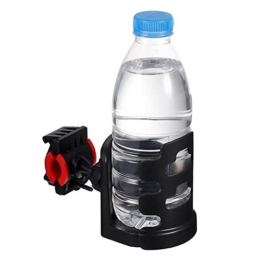 Kweetop 自転車 ドリンクホルダー クランプ 360°回転 ボトルサイズ調整可能 ペットボトル 回転 カップホルダー 車椅子 クランプ式 カップ ボトル 飲み物 取付簡単