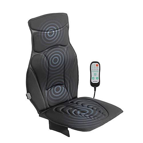 Modezvous massagestoel, verwarmbaar, vibrerende autostoel, trillingsmassagemat – zacht en gewatteerd – 12 V – zwart