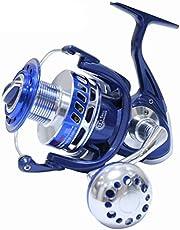 SALTIGA Spinning Carretes 30KG 6000 7000 8000 9000 10000 Heavy Duty mar Pesca Jigging Carrete de Pesca Arrastre