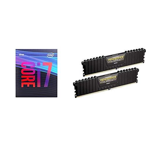 Intel Core i7-9700 Desktop Processor 8 Cores up to 4.7 GHz LGA1151 300 Series 65W & Corsair Vengeance LPX 16GB (2x8GB) DDR4 DRAM 3000MHz C15 Desktop Memory Kit - Black
