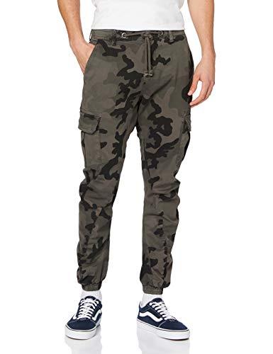 Urban Classics Herren Cargo Jogging Pants Hose, Grey Camo, W28