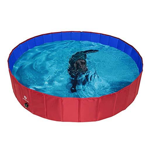 HOMIMP Opvouwbare hond Zwembad Badkuip - Draagbare huisdier kinderbad voor honden katten en kinderen binnen, buiten, XL(160 cm x 30 cm)