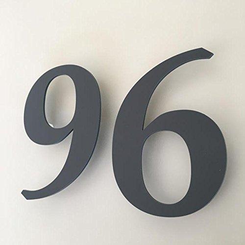 ServeWell grafite grigio opaco, finitura galleggiante, numero civico–Book, Grey, 15 cm