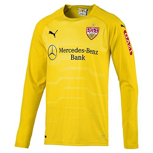 PUMA Herren VfB Stuttgart LS GK Shirt w.Sponsor Trikot, Cyber Yellow, S