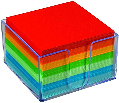 1InTheOffice Memo Cube, Assorted Colors Memo Pad 500 Sheets