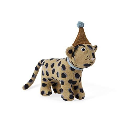 OYOY Mini Kinder Dekokissen Darling Cushion - Kinder Kissen Baby Elvis Leopard für das Kinderzimmer - Baumwolle gefüllt
