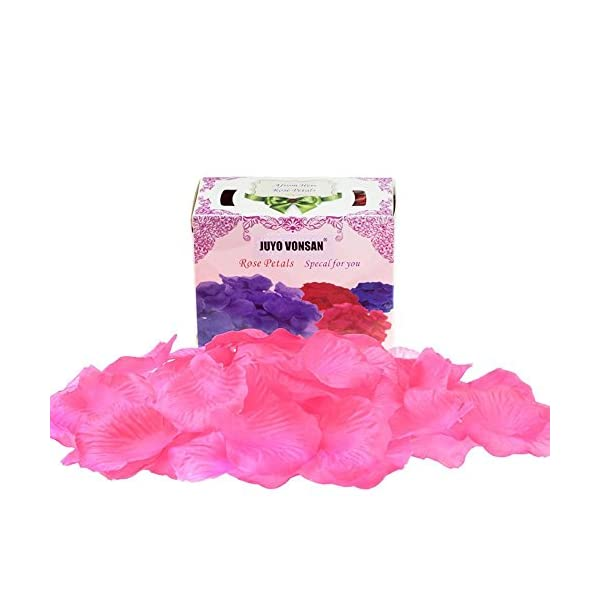 JUYO VONSAN 1000pcs Rose Petals Wedding Flowers Favors for You Special Wedding