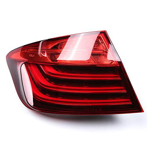 Lámpara de luz trasera trasera LED para 5 series F10 LCI 528i 535i 2014 2015 2016 Luz de advertencia del indicador de freno de parada con bombilla, 1 pieza lado izquierdo del conductor, 63217306161