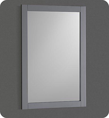 Amazon Com Fresca Manchester 20 Gray Traditional Bathroom Mirror Home Kitchen