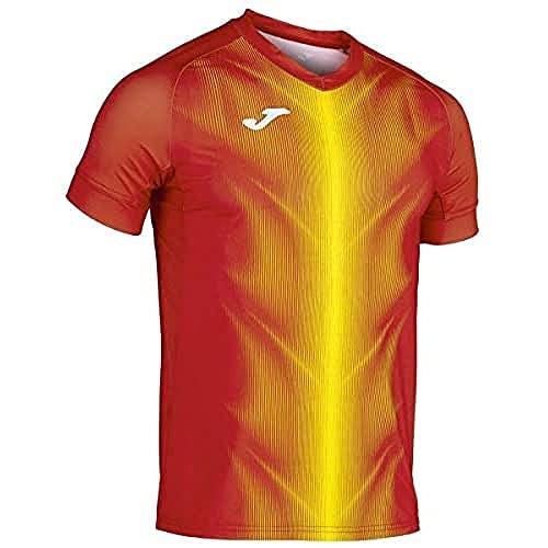 Joma Olimpia Camisetas, Hombre, Rojo/Amarillo, L