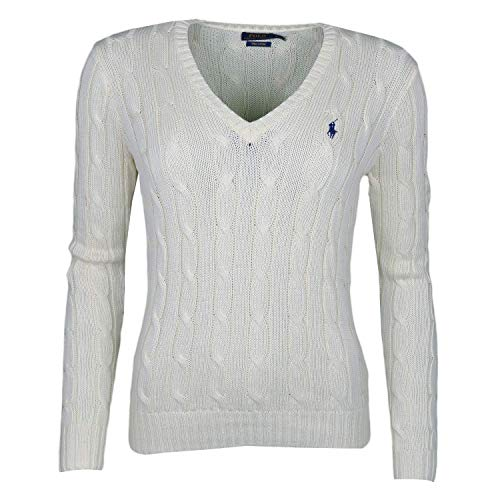 Polo Ralph Lauren Damen V39IE168CE149 Sweatshirt, Beige (Cream B1Ib5), X-Large