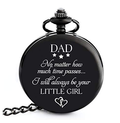 Gifts for Dad from Daughter I Dad Gifts from Daughter - I Will Always be Your Little Girl  Pocket Watch I Dad Birthday Gifts from Daughter I Father Daughter Gifts I Gift for Daddy from Daughter