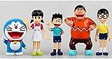 5 unids / Set Figuras de Doraemon PVC Figura de acción Anime muñeca 5-7cm Mini Juguete Modelo Coleccionable Regalo para niños Anime Regalos Modelo Juguetes Kits