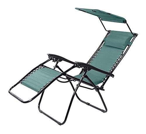 XHNXHN Muebles de Patio, Tumbona, con Respaldo Reclinable, Sombrilla, Plegable, para Jardín, Balcón, Terraza, Sillas Zero Gravity