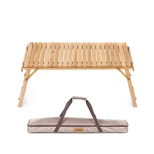 Mesa Camping Plegable Mesa de huevo de madera maciza Mesa plegable al...