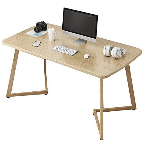 Computer Schreibtisch Kinder Schlafzimmer Laptop Studie Schreibtische Moderne Große Rechteck Gaming Schreibtisch Holz Schreibtisch Home Office Workstation | Schmiedeeisen Tischbeine(Size:120x60x75cm)