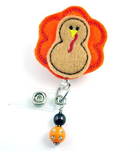 Thanksgiving Turkey Yellow Beak- Nurse Badge Reel - Retractable ID Badge Holder - Nurse Badge - Badge Clip - Badge Reels - Pediatric - RN - Name Badge Holder