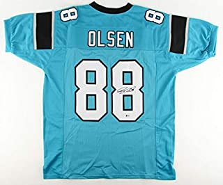 Greg Olsen Autographed Signed Panthers Jersey Beckett Coa 3Xpro Bowl Tight End / 2014 2016