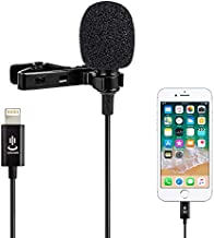 Microphone kit for iPhone,Lavalier Lapel Microphone Speaker Omnidirectional Audio Video Recording for iPhone X Xr Xs Max 11 Pro 8 8plus 7 7plus 6 6plus,iPad(1.5m)