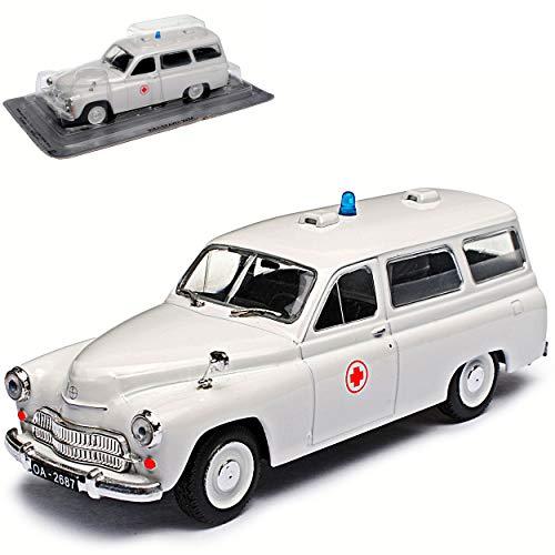 Warszawa 202A Ambulance Krankenwagen Weiss Kombi Rotes Kreuz 1/43 Modellcarsonline Modell Auto Modellcarsonline Modell Auto
