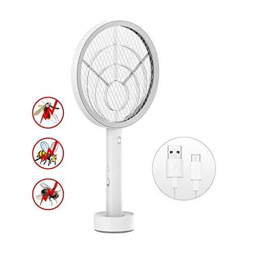 Chefavor Fliegenklatsche Elektrisch, Insektenvernichter, Fliegenfänger, Moskito Zapper Insekten Mörder, mit Wiederaufladbarer Akku, Giftstoffen und Gerüchen Frei, Ideal für Indoor und Outdoor (USB)