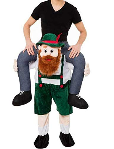 Oktoberfest Beer Guy Shoulder Carry Mascot Costume Ride On Halloween Christmas Party Dress (One Size, As Picture)