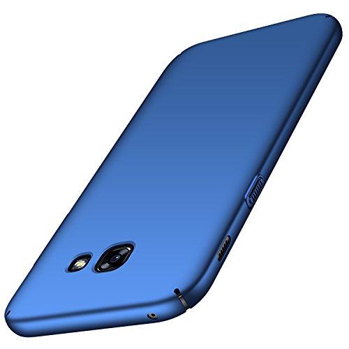Anccer Cover per Samsung Galaxy A5 2017 [Serie Colorato] di Gomma Rigida Protezione Da Cadute e Urti Compatibile con Samsung A5 2017 (Azzurro liscio)