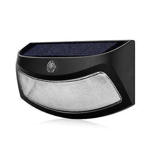 Buiten Zonne-licht, Slimme Waterdichte Wandlamp, 5 Meter Detectieafstand 120 ° Groothoek Draadloze Menselijk Lichaam Inductie Lamp Nachtverlichting (zwart)