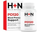 PressureDown120 High Blood Pressure Supplement to Lower BP Naturally-Premium Cardiovascular Heart Health Formula-CoQ10, Vitamin D, L-Theanine for Stress Reduction (Pack of 1 Bottles, 60 Capsules)