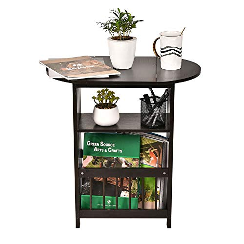 end table with magazine rack - 3