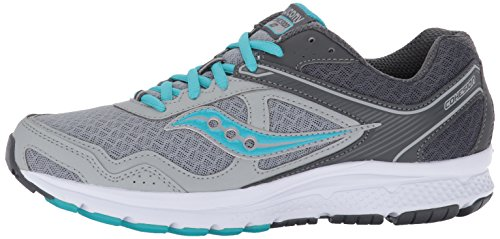 Saucony Women's Cohesion 10 Running Shoe, Grey Blue, 6.5 Medium US
