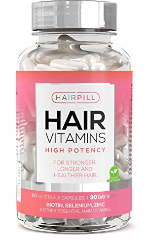 Hair Pill - UK's number 1 Hair Loss Solution, Biotin, Hair Regrowth, High Potency, 5000 mcg, Hair Volume, Hair Growth Vitamins For Women, Hair Growth, Hair Loss Treatment for Women, Hyaluronic Acid