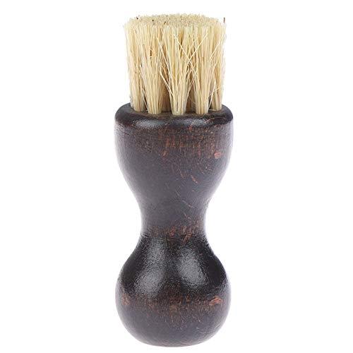 Cepillos de limpieza Cepillos for el calzado - 1pcs de madera de la manija del brillo del zapato del cepillo de cerdas de pelo polaco pulido cepillo mini calabaza Zapatos de aceite cepillo Dro