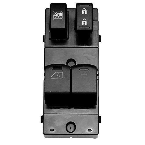 Ymhan Interruptor del Coche 1pcs Cristal Levantador Interruptor del elevalunas eléctrico de Nissan Frontier 2 Puerta-25401 ZP50A (Color : Black)