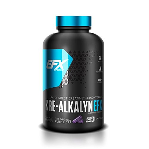 EFX Kre-Alkalyn   PH Correct Creatine Monohydrate   Patented Formula, Gain Strength, Build Muscle & Enhance Performance - 240 Capsules / 120 Servings