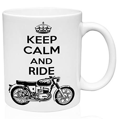 Bultaco mercurio 155 keep calm and ride 11oz Taza de café de cerámica de alta calidad