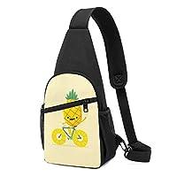 パイナップル ワンショルダーバッグ クロスボディバックパック ボディバッグ 斜めがけ バッグ おしゃれ 男女兼用 軽量 大容量