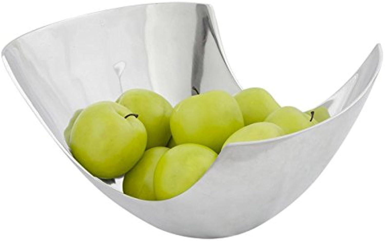 Paris Prix - Corbeille à Fruits Aluminium argent  35cm Argent