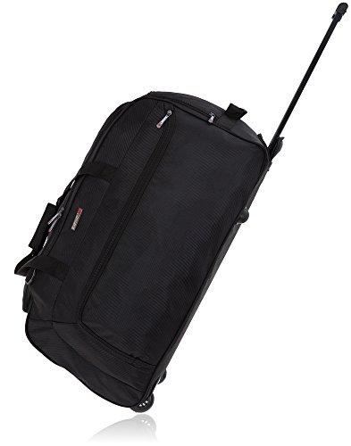 Reisetasche Trolley Elephant Big Black 70 cm XL Rollen Tasche 5087 Schwarz +Koffergurt