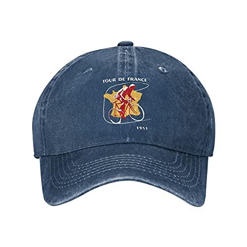Jopath Gorra de béisbol ajustable de algodón para camionero de ciclismo de Francia, gorra unisex, azul marino, Talla única