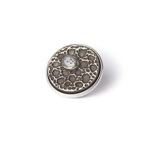 Noosa Chunk 248 Lotus Seed white/ silver-stone/ white metal