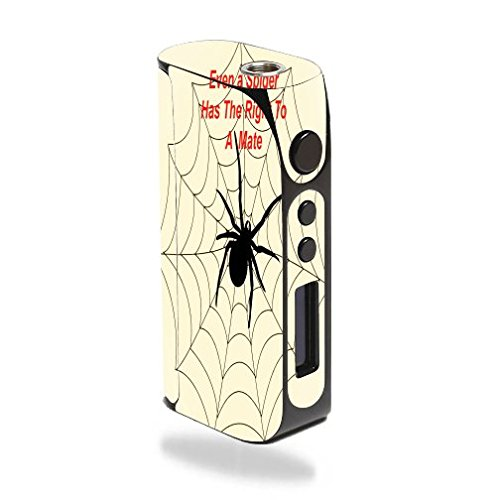 Decal Sticker Skin WRAP Spiders Web Quote Deserves a Mate Printed Design for Pioneer4You iPV D3 80W
