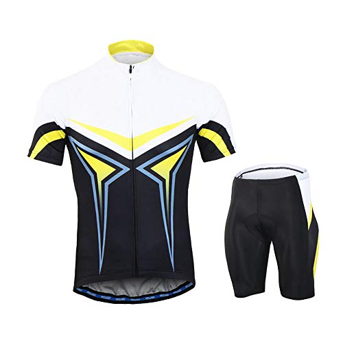 Men's Cycling Suits Set Summer, Breathable Bike Jersey Short Sleeve + 3D Stereo Cushion Cycling Clothing Shorts,Cycling Jersey Set, of MTB Cyclist from Beginner to Pro