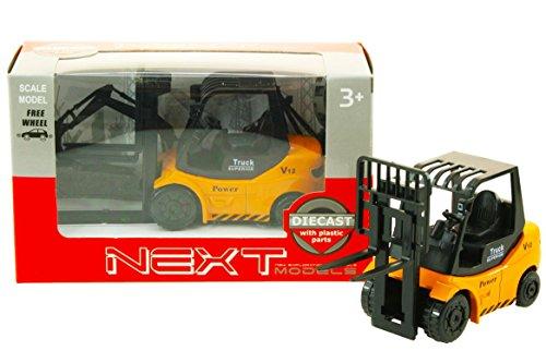 Toi-Toys–Die-Cast Carretilla elevadora en Caja de Ventana vehículos con Funciones, 21894