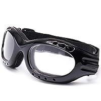 コイシングサングラス眼鏡レンズをクライミングするゴーグルの登山中の総リムスキースケートメガネ 目の保護に適しています (Color : Transparent)