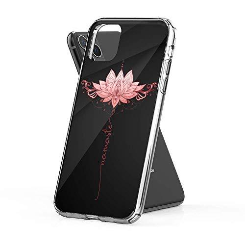 Hülle für iPhone 11 12 Pro Max XR 6/7/8 SE 2020,Namaste Mandala Lotus Yoga Kristall klar [Anti-Yellow] Ultra Slim Weicher TPU-Schutz, Scratch-Resistant