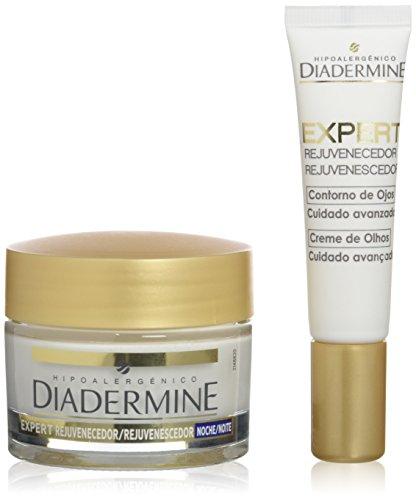 Diadermine Crema Noche y Contorno de Ojos - 1 Paquete de 2 x 146.50 gr - Total: 293 gr